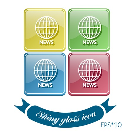 globe symbol. news. Symbol news. Icon globe planet Vector