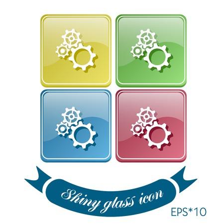 symbol settings. cogwheel, icon setting and repair Vector