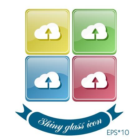 cloud download. icon download files Vector