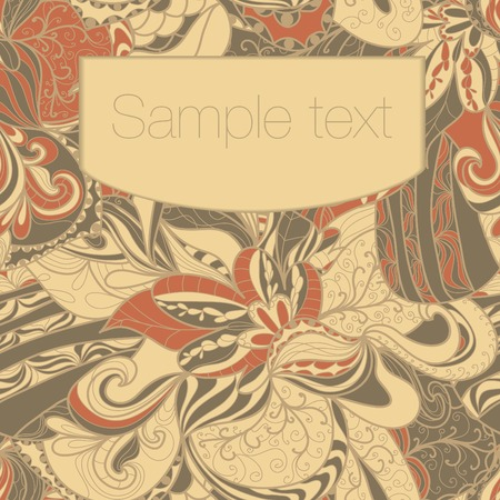 Abstract seamless hand-drawn pattern. Floral wavy texture. Use as pattern fill or surface texture. Full color seamless floral wavy background Vector
