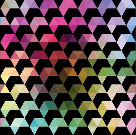 Pattern of geometric shapes. Colorful mosaic backdrop. Geometric retro background Vector