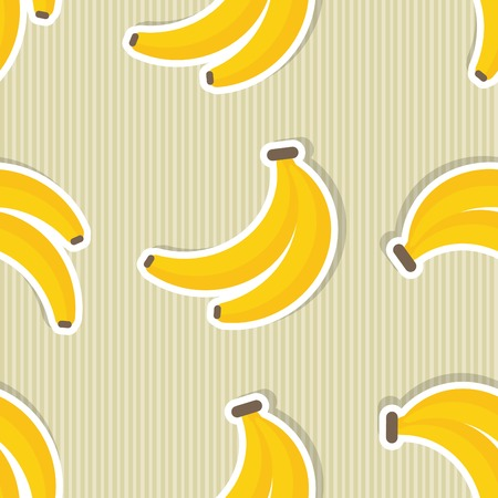 Banana pattern Seamless texture with ripe bananas. Illustration