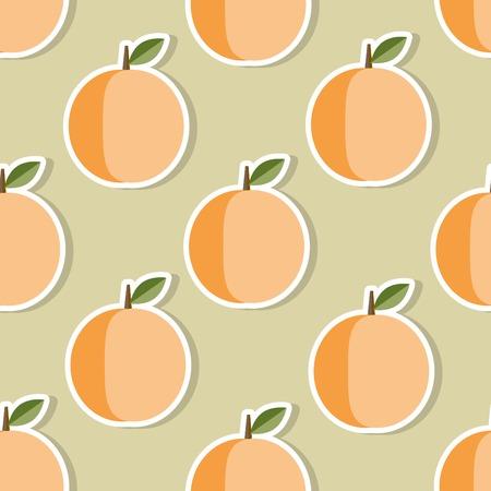 peaches: Peach pattern Seamless texture with ripe peaches.  Illustration