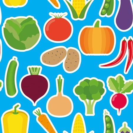 vegetable seamless pattern. Vector