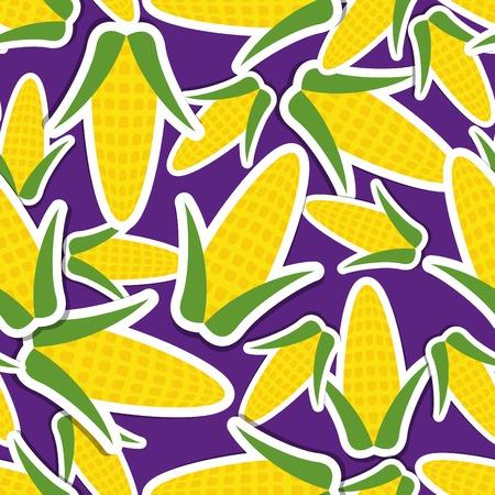 corn pattern Seamless texture with ripe corn.  Vector