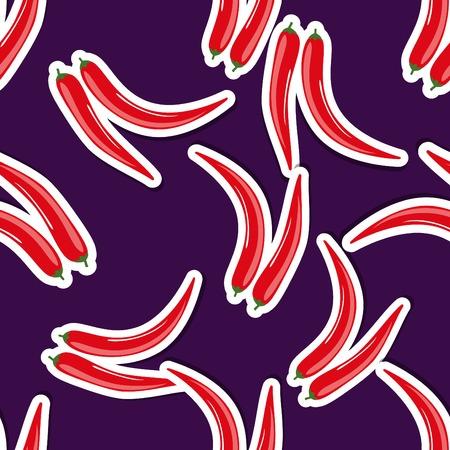 hot pepper: hot pepper pattern Seamless texture with ripe red hot pepper.