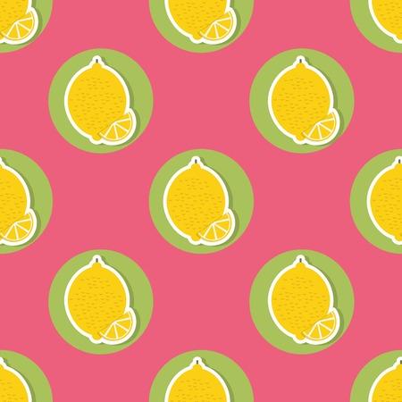 Lemon pattern Seamless texture with ripe lemons.
