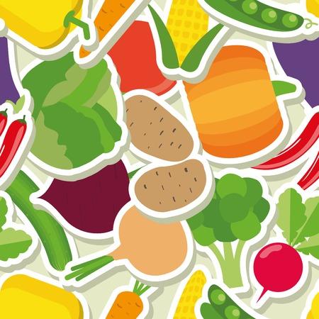 gherkin: vegetable seamless pattern.  Illustration