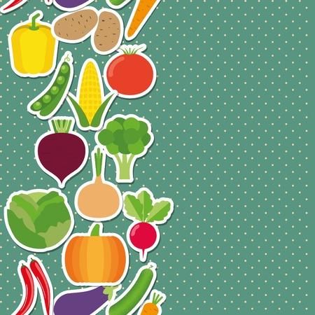bell tomato: vegetable seamless border pattern.  Illustration