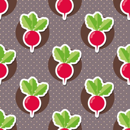 radish pattern Seamless texture with ripe radish.  Illustration