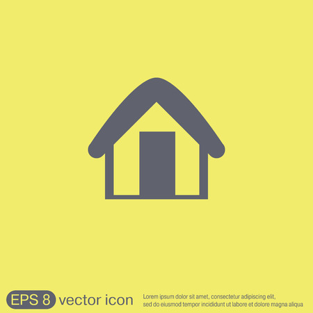 inactive: House icon. Home sign
