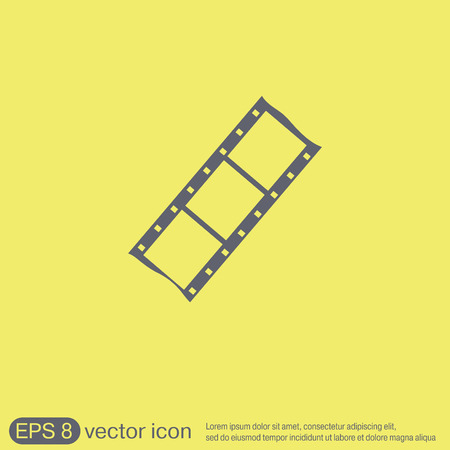 celluloid: film sign. symbol of cinema. celluloid