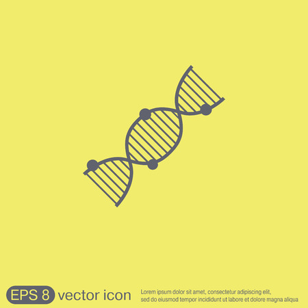 dna helix: DNA helix icon. Medical Research character. Symbol of medicine. Icon Biology and Genetics