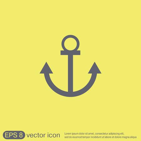 ancre marine: Nautique vecteur Anchor. ancrer caract�re maritime. instrument de marine ic�ne