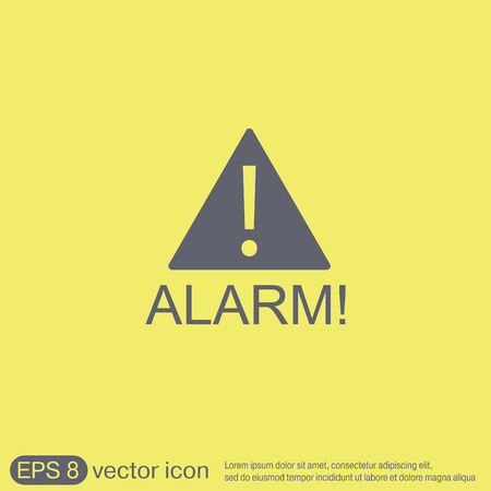 Exclamation Sign icon, alarm sign Illustration