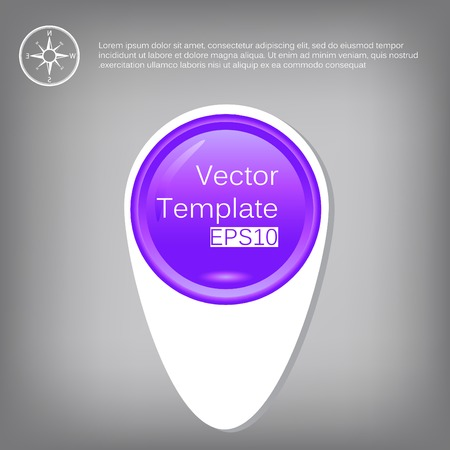 Vector 3d circle plastic glossy element for infographic Vector