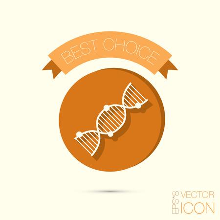 Hélice de ADN. Personaje de Investigación Médica. Símbolo de la medicina. Icono de Biología y Genética