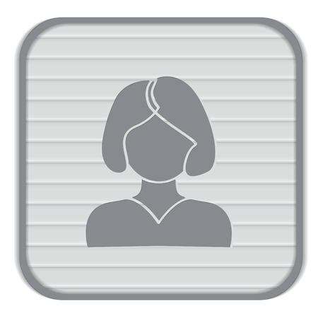 tail woman: Un avatar femenino. chica con el pelo de la cola. Avatar de una mujer