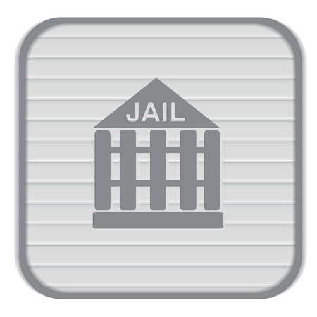 jail prison icon. symbol of justice . police icon Vector