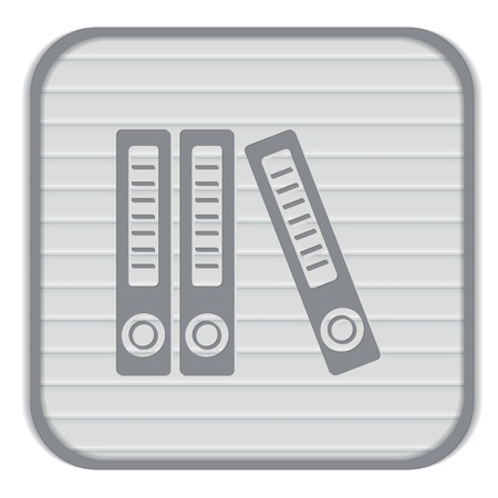 archiv: Office-Ordner mit Papieren und Dokumenten, Archiv-Ordner-Symbol