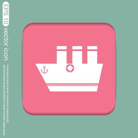 sailing ship symbol . icon boat steamer.  sailboat sign Vector