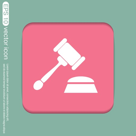bidder: gavel . icon law. symbol of justice and judgment.