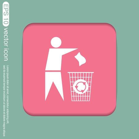 litter: do not litter icon