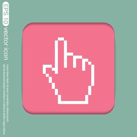 cursor: mouse hand cursor. pixel view