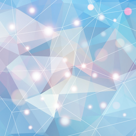 Polygonal abstract geometry background. Vector polygon texture with shiny elements