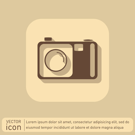 analogue: photo camera Illustration