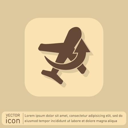 air travel: simbolo aereo. icona del trasporto aereo Vettoriali
