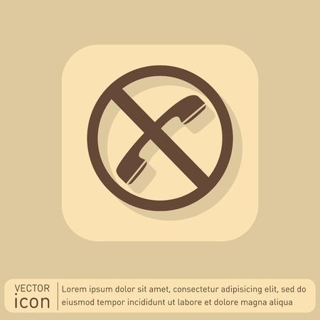 embargo: forbidden to use phone. forbidding symbol