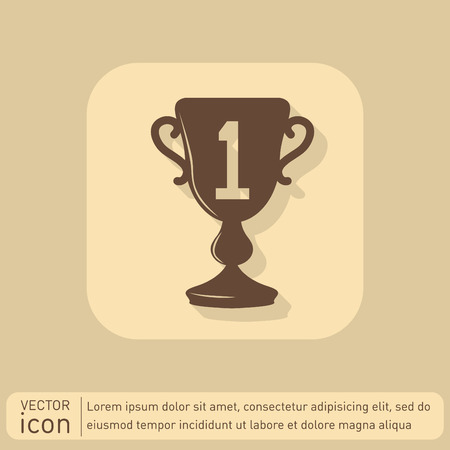 to place: cup for first place icon