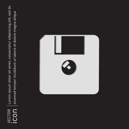 floppy, diskette. symbol store information document. computer floppy disk icon .