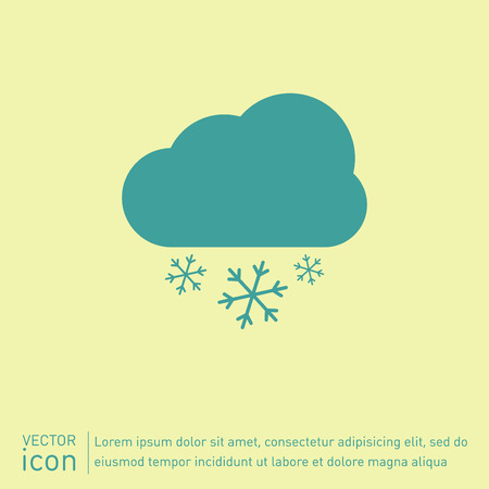 weather icon, cloud snow Vector