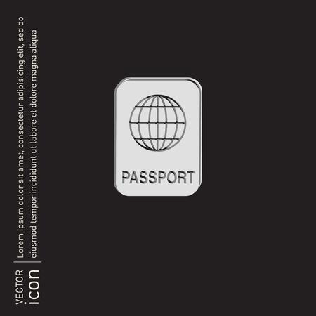 emigration: international passport icon. Symbol of travel . Icon personal document