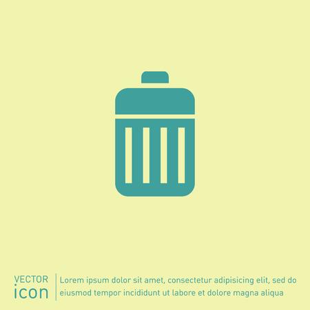 wastebasket: basket garbage, recycling Illustration