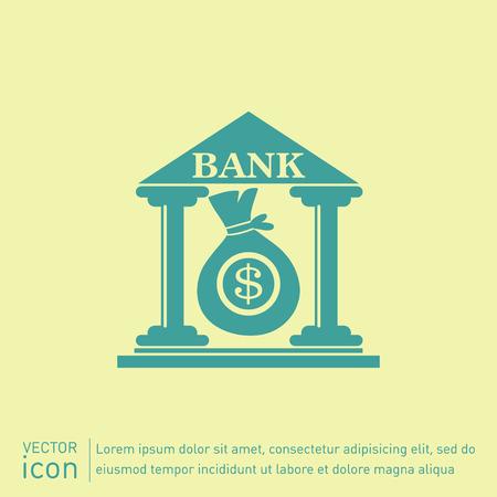 banco dinero: edificio del banco.