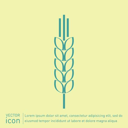 wheat spike ears icon