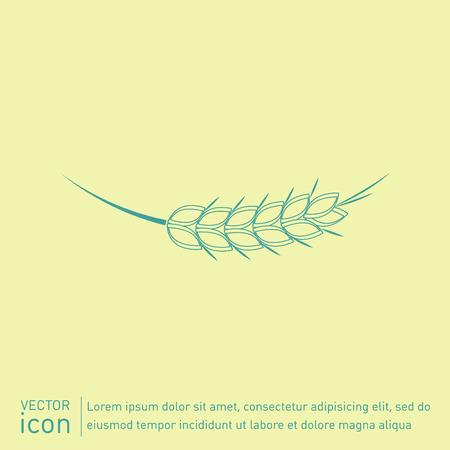 wheat background: wheat spike ears icon