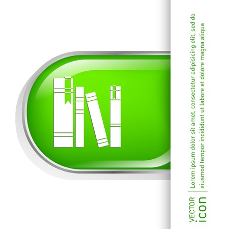 book spines: book spine, spines of books. icon symbol of a science and literature Illustration