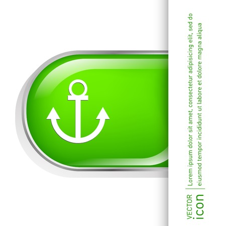 seafaring: Nautical Anchor vector. anchor seafaring character. icon marine instrument Illustration