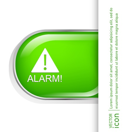 computer instruction: Exclamation Sign icon, alarm sign Illustration