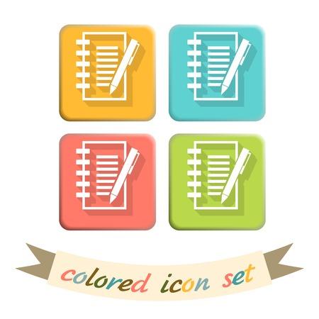 spartiti: foglio di carta e penna