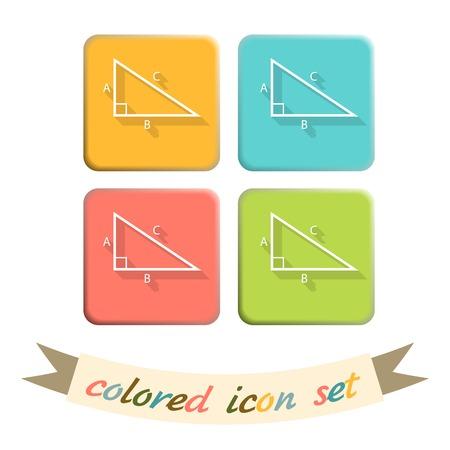 math icon: triangle math icon. symbol icon geometry. learning math