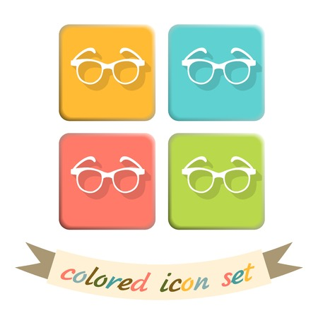eyeglasses: Vector Glasses Icon, eyeglasses sign