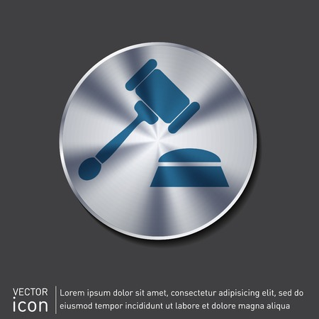 judgment: gavel . icon law. symbol of justice and judgment.