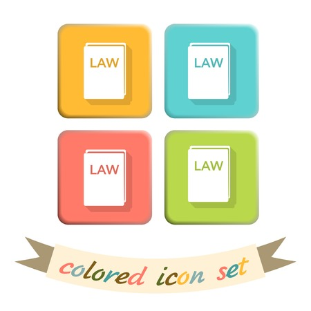 icon book of the law. set of laws. symbol of justice