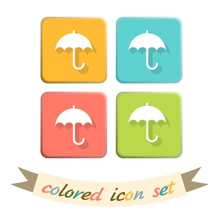 moisture: umbrella sign. symbol umbrella. protection from rain and moisture Illustration