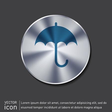 moisture: umbrella icon. protection from rain and moisture Illustration